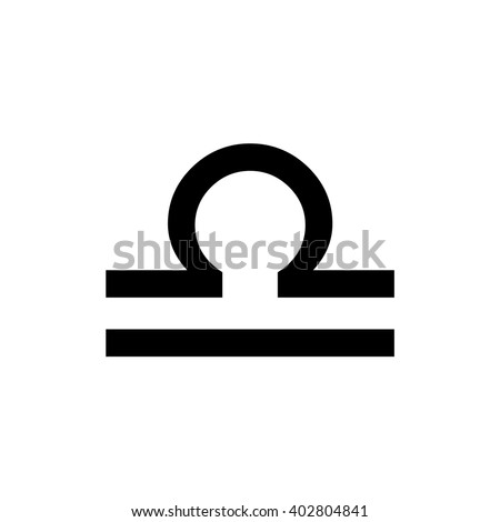 Libra Zodiac Sign Astrology Symbol Vector Stock Vector 402804841