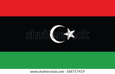 Libya flag - stock vector