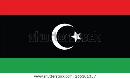 libya Flag for Independence Day and infographic Vector illustration. - stock vector