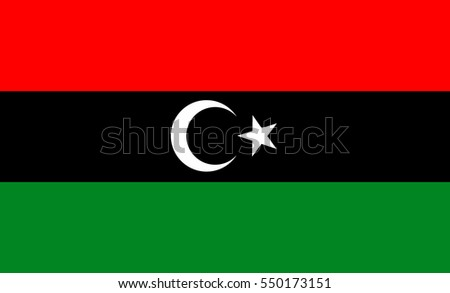 Libya flag, official colors and proportion correctly. National Libya flag.
