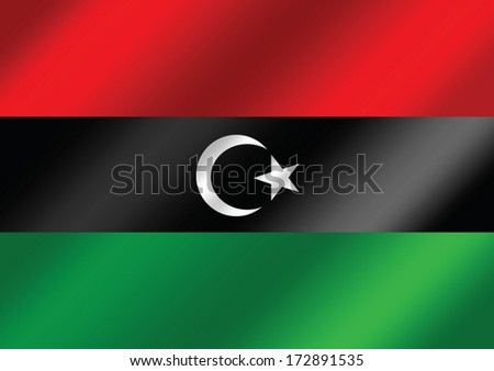 Libya flag themes idea design