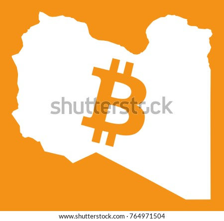 Libya map bitcoin crypto currency symbol stock vector 764971504 libya map with bitcoin crypto currency symbol illustration ccuart Choice Image