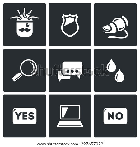 Lie detector. Check the lies and truth. Vector Illustration. - stock vector