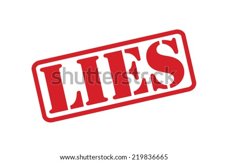 LIES red rubber stamp text vector over a white background. - stock vector