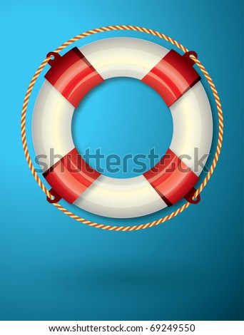Life buoy background - stock vector