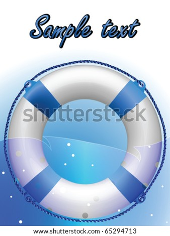 life buoy composition, abstract vector art illustration - stock vector