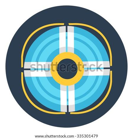 life buoy icon - stock vector