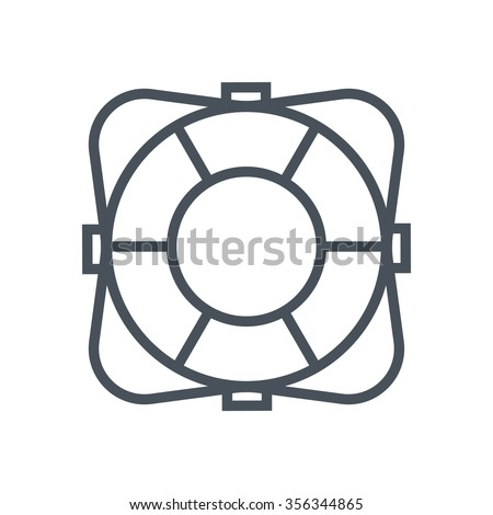 Life buoy icon suitable for info graphics, websites and print media. Colorful vector, flat icon, clip art. - stock vector
