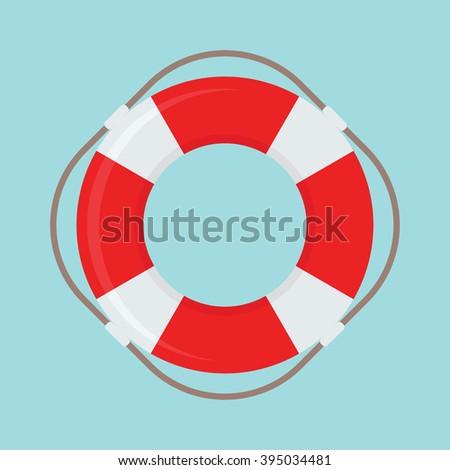 Life Buoy vector icon - stock vector