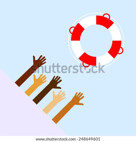 Life Buoy Vector Illustration - stock vector