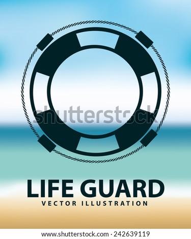 life guard - stock vector