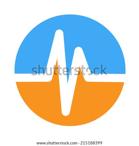 life line - Heart beat, cardiogram. Pulse icon - stock vector
