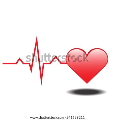 Life line. Normal Sinus Rhythm. Heart - stock vector