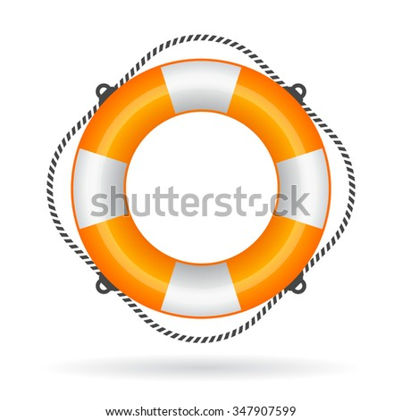 Life ring icon vector illustration isolated on white background - stock vector