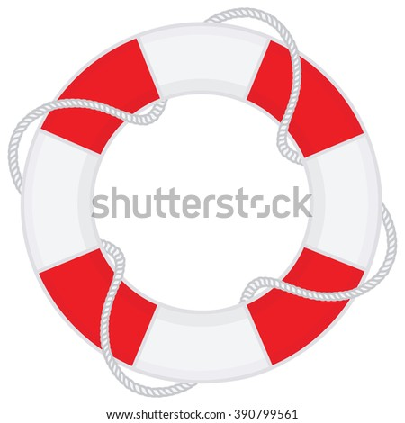 lifebelt vector - stock vector