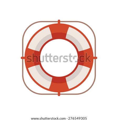 Lifebuoy icon illustration - stock vector