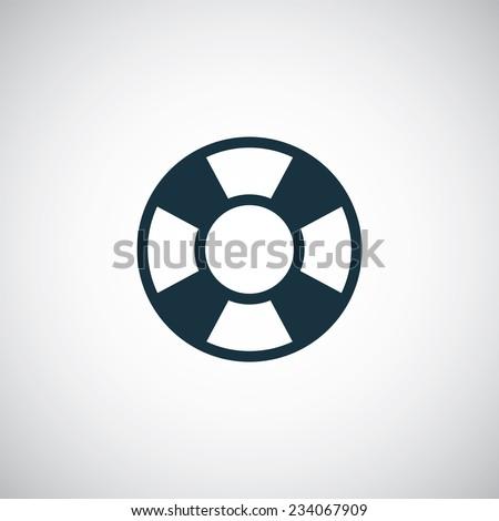 lifebuoy icon on white background  - stock vector