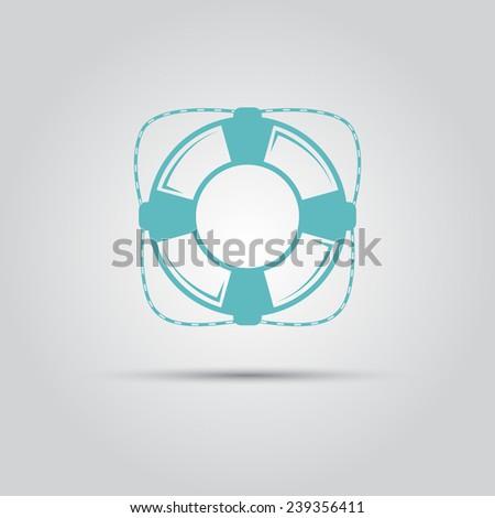 lifebuoy vector isolated logo - stock vector