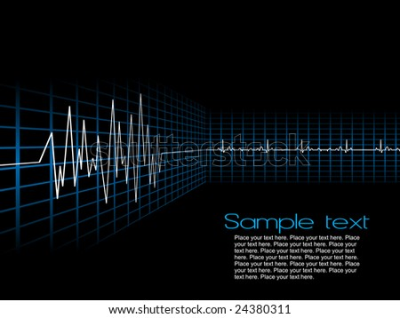lifeline in an electrocardiogram, background