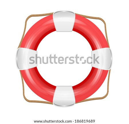 Lifesaver icon isolated.