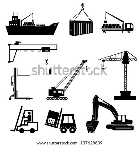 lifting machinery vector illustration. - stock vector