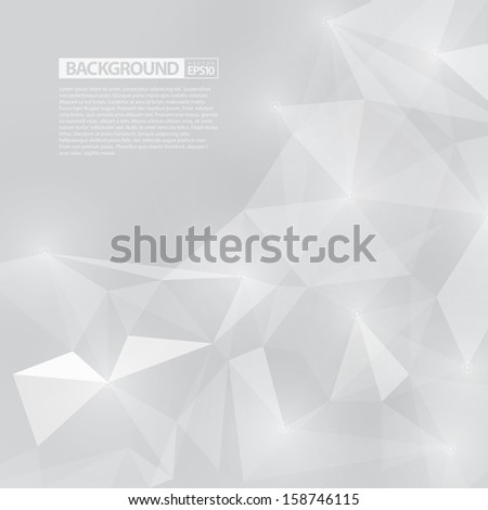 Light Abstract Background with Triangles / EPS10 Vecotr Design / - stock vector