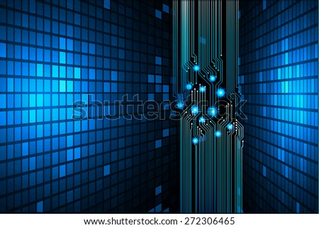 Light Abstract Technology background for computer graphic website internet and business. circuit. dark blue background. text box. label. card. Mosaic, grid. pixels. table