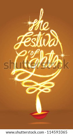 light art of the festival of lights background - stock vector