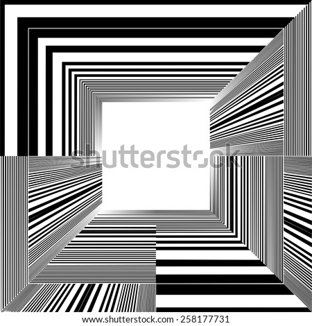 Light At The End Of Tunnel Quadrate Exit Vector 05 - stock vector