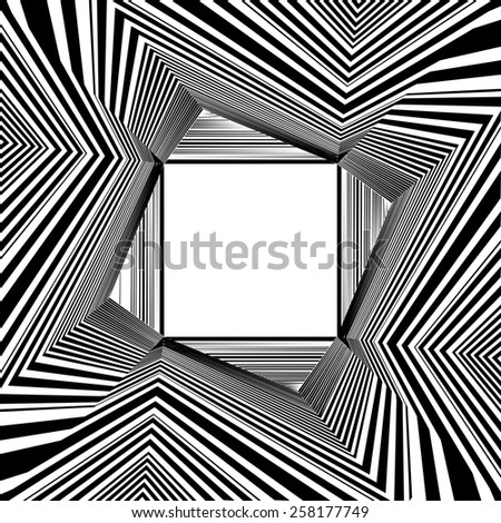 Light At The End Of Tunnel Quadrate Exit Vector 06 - stock vector