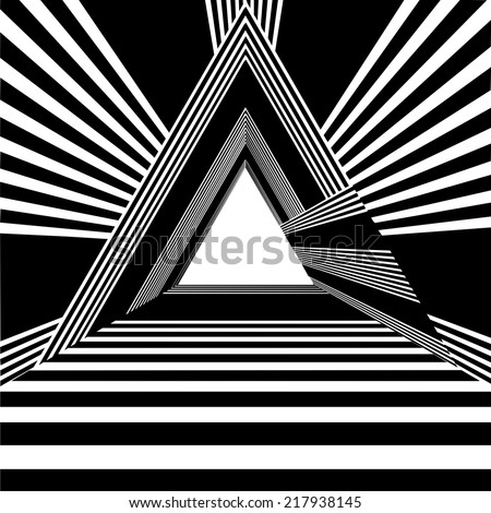 Light At The End Of Tunnel Triangle Exit Vector 02 - stock vector