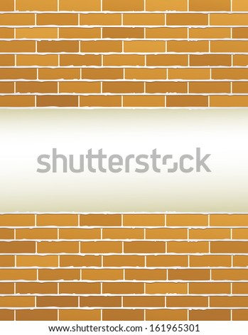 light background and grunge brick wall with place for text