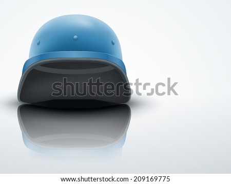 Light Background Military helmet troops of United Nations. Editable Vector illustration. - stock vector