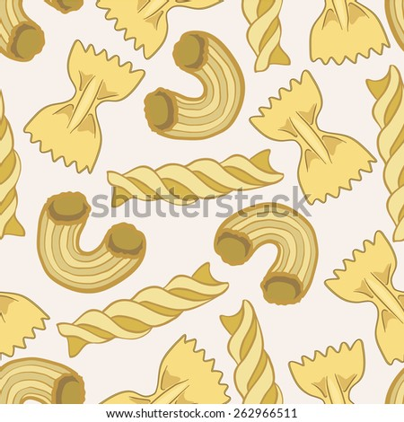 light background with pasta