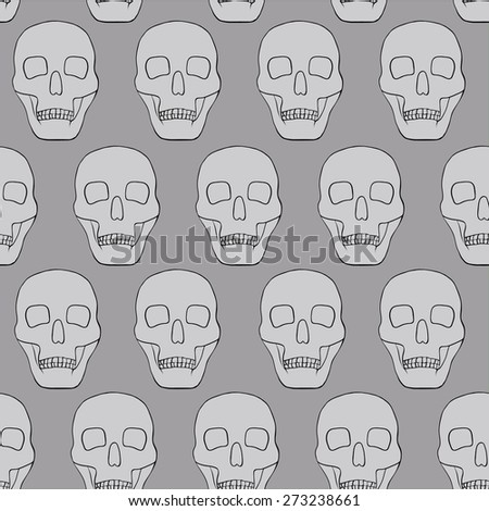 light background with skulls