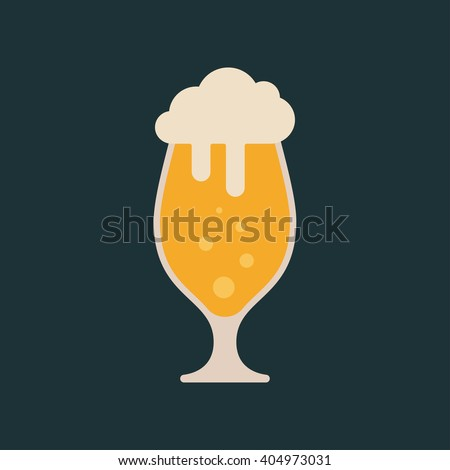 Light beer icon. Lager beer icon. Vector beer. Glass with beer isolated on background - stock vector