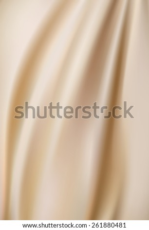 light beige soft background with soft delicate folds - stock vector
