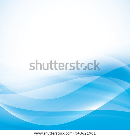 light blue abstract background with transparent folding waves. vector - stock vector