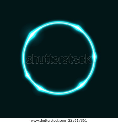 Light blue circle effect  background, stock vector - stock vector