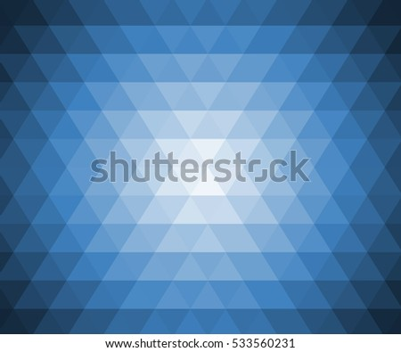 Light blue texture  triangles background.Abstract background consisting of triangles/