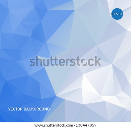 Light blue vector abstract polygonal background - stock vector