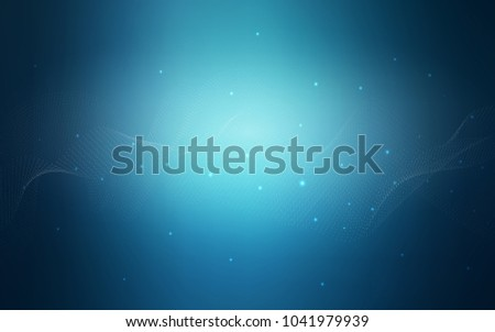 Light BLUE vector background with dots. Blurred bubbles on abstract background with colorful gradient. The pattern can be used for ads, leaflets of liquid.