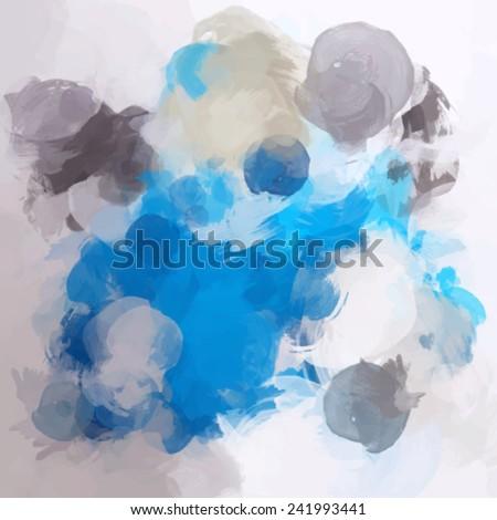 Light blue with gray brush strokes - stock vector