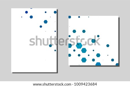 Light BLU Evector Template Landing Pages Booklet Stock Vector ...