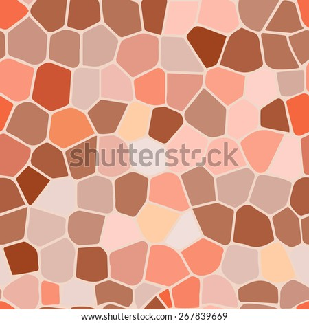Light brown stained glass Illustration (seamless texture) - stock vector
