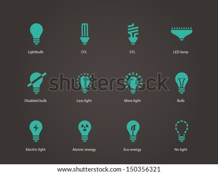Light bulb and LED lamp. Vector illustration. - stock vector
