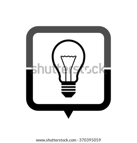 Light bulb - black vector icon; map pointer;  message bubble - stock vector