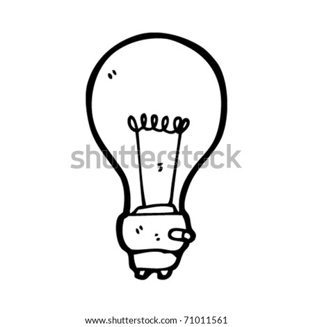 light bulb cartoon - stock vector