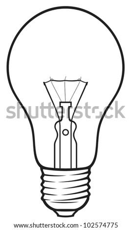 light bulb (classic light bulb) - stock vector