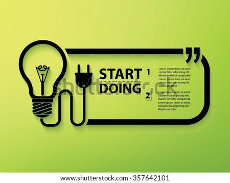 Light bulb Design and text box,vector - stock vector